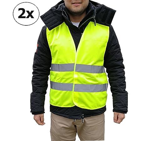 Chaleco reflectante de seguridad en caso de accidente para coche, camión, bicicleta, motocicleta, etc