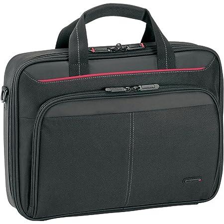 """Targus Classic Clamshell Maletín para portátil de 12 - 13,4"""", bolsa de hombro con correa acolchada, maletín para ordenador con compartimentos internos - Negro, CN313"""