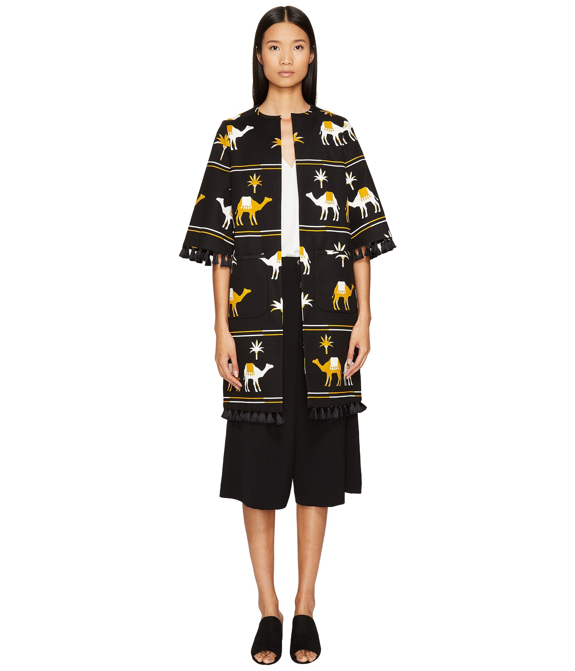Spice Things Up Embroidered Camel Coat