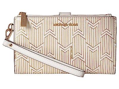 MICHAEL Michael Kors Double Zip Wristlet (Optic White 1) Wristlet Handbags