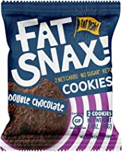 Fat Snax Cookies - Low Carb, Keto, and Sugar Free (Double Chocolate Chip, 12-pack (24 Keto cookies)) - Keto-Friendly & Gluten-Free Keto Snacks