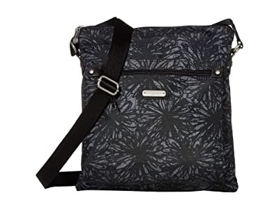 Baggallini New Classic Go Bagg with RFID Phone Wristlet (Onyx Floral) Bags