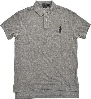 Mens Custom Fit Bear Logo Polo Shirt