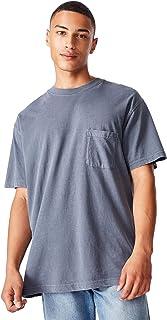 Cotton On Men's Short Sleeve Loose Fit Washed Pocket T-Shirt