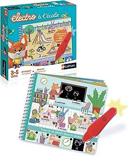 Nathan - Petit Electro École - Jeu éducatif électronique de 3 à 5 ans nomade à emporter partout