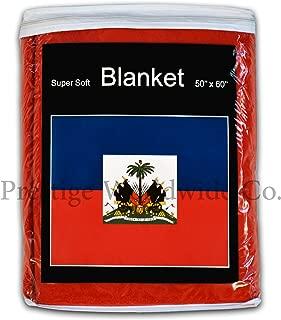 Super Soft Haiti Flag Fleece Blanket 5 ft. x 4.2 ft. Haitian Travel Throw Cover