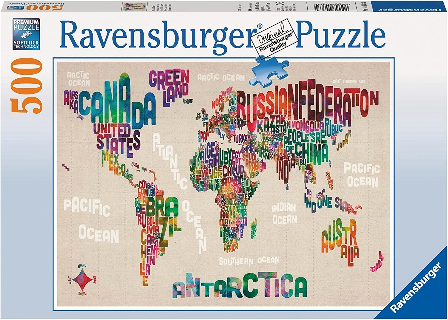 Ravensburger World in Words-Puzzle (500-Piece)