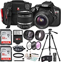 Canon EOS Rebel T6 DSLR Camera with EF-S 18-55mm f/3.5-5.6 IS II Lens, Along with 32 & 16GB SDHC, and Deluxe Accessory Bundle