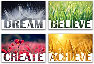 Set of 4 Motivational Posters with Nature Scenes 17