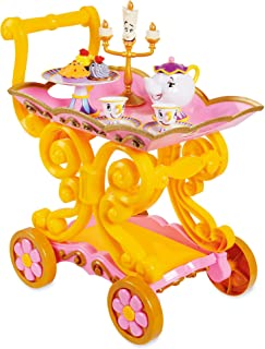 Disney Beauty and The Beast ''Be Our Guest'' Singing Tea Cart Play Set