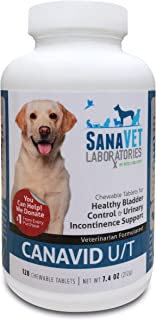Bladder Support & Urinary Incontinence in Dogs - Tasty Chewables Promote Healthy Urinary Tract Function - 120 Tablets