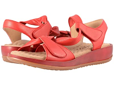 SoftWalk Del Rey (Red Really Soft Leather) Women