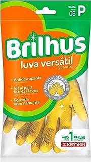 Luva de Látex Versátil, Tamanho P, Linha Brilhus, Bettanin, Amarelo