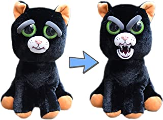 Feisty Pets William Mark Black Cat: Katy Cobweb Stuffed Attitude Plush Animal