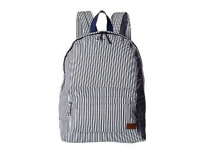 Roxy Sugar Baby Canvas Backpack (Dress Blue Cornfield Stripe) Backpack Bags