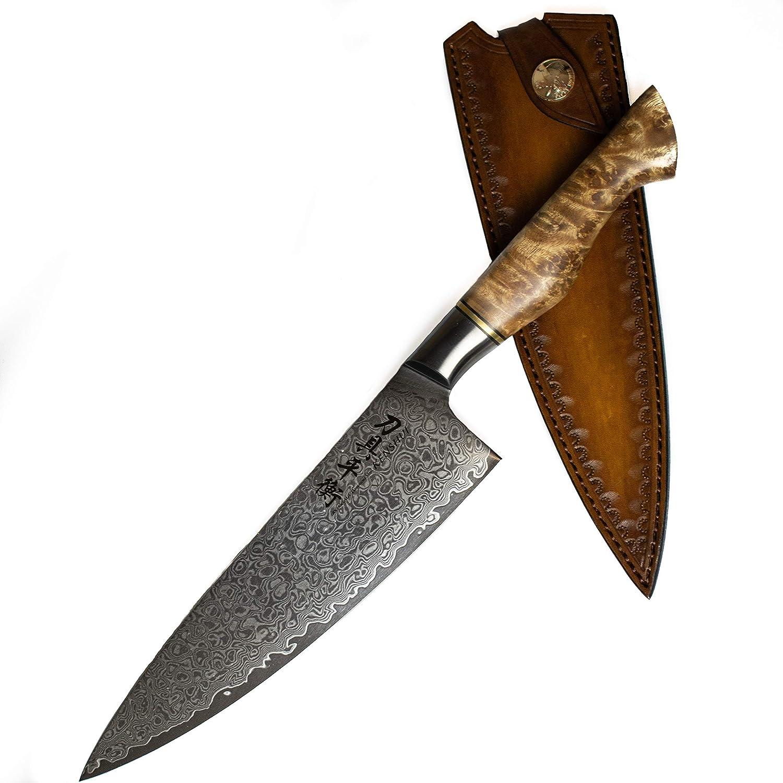 Cuchillo de Damasco Cuchillo de Cocina Japonés Profesional Cuchillo de Cocinero Regalo Cuchillo de Chef