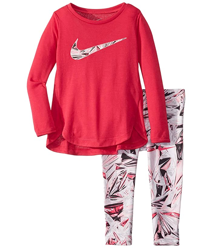 Nike Kids  Dri-FITtm Sport Essentials Long Sleeve Tunic and Leggings Two-Piece Set (Toddler) (Black) Girls Active Sets