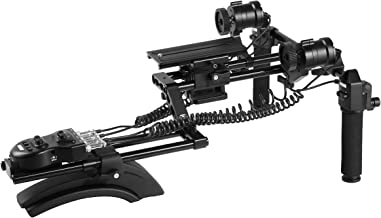 Movo MFF400 Premium Motorized Follow Focus and Zoom Control Video Shoulder Rig for HD DSLR Cameras