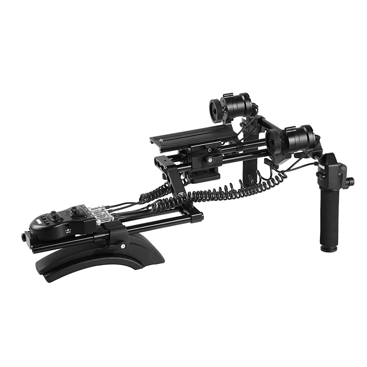 Movo MFF400 Premium Motorized Follow Focus and Zoom Control Video Shoulder Rig for HD DSLR Cameras qgfxiscbehc39607