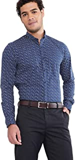 Max Men's Printed Slim Fit Formal Shirt