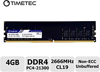 Timetec Hynix IC 4GB DDR4 2666MHz PC4-21300 Unbuffered Non-ECC 1.2V CL19 1Rx8 Single Rank 288 Pin UDIMM Desktop Memory RAM Module Upgrade (4GB)