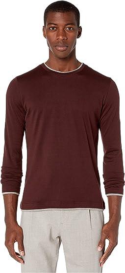 2516e76fd4951 Catherine catherine malandrino long sleeve collared v neck shirt top ...