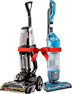 Ramadan Special Bundle: Bissell Proheat 2X Revolution Cleanshot Corded Upright Vacuum Cleaner, 2066E + Bissell Powerglide Upright Vacuum,1538A