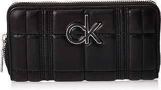 Calvin Klein Zip Around Wallet for Women-Black