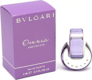 Bvlgari OMNIA AMETHYSTE for WOMEN: EDT .17 OZ MINI (note* minis approximately 1-2 inches in height)