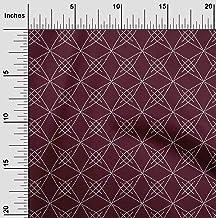 oneOone Cotton Poplin Fabric Shapes Geometric Sashiko Print Fabric by Yard 42 Inch Wide