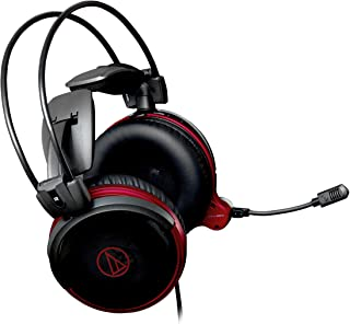 Audio Technica ATH-AG1X High-Fidelity Gaming Headset with Gooseneck Microphone (Black/Red)