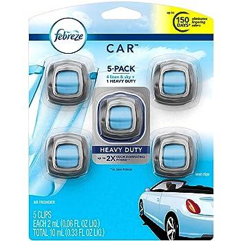 Febreze Car Air Freshener, Set of 5 Clips, Linen & Skyup to 150 Days