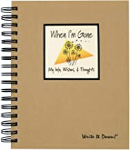 """product image for Journals Unlimited """"Write it Down!"""" Series Guided Journal, When I'm Gone, My Info, Wishes, & Thoughts Journal, with a Kraft Hard Cover, Made of Recycled Materials, 7.5""""x 9"""""""
