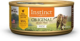 Instinct Grain Free Wet Cat Food Pate, Original Recipe Natural Canned Cat Food
