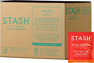 Stash Tea Ginger Fire Chai Yerba Mate & Herbal Tea Blend 100 Count Tea Bags in Foil (packaging may vary) Individual Yerba Mate Tea Bags, Use in Teapots Mugs or Cups, Brew Hot Tea or Iced Tea
