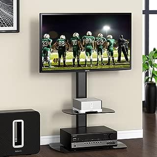 FITUEYES テレビスタンド 23~55インチ対応 壁寄せテレビスタンド ローボード・テレビ台 高さ調節可能 ラック回転可能 ブラック TT206501GB