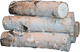 Large Birch Fireplace Log Set (5 Logs: 3-5 inch Dia. x 17-18 inch Long)