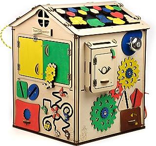 XXL Cubo attività per Bambini 19 in 1 , Montessori Giocattoli Prescolari in Legno Multifunzione Giochi, Regalo di Complean...