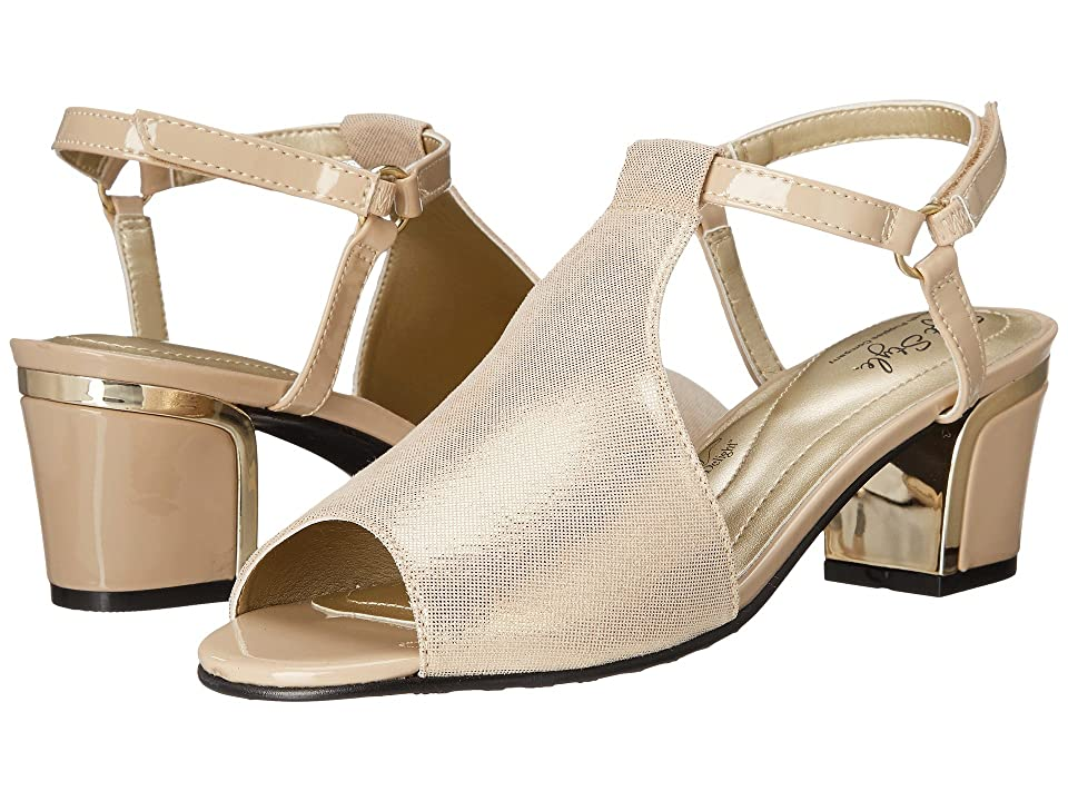 Soft Style Dalyne (Natural Sparkle Shine/Gold Heel) Women