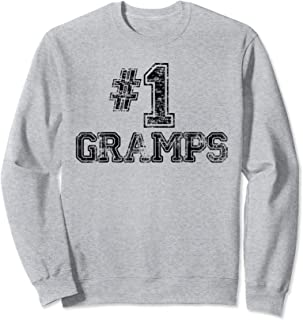 #1 Gramps - Number One Sports Father's Day Gift Sweatshirt