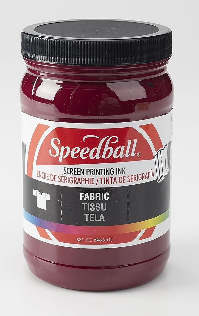 Speedball 004686 Fabric Screen Printing Ink, 32 Fl. oz, Burgundy