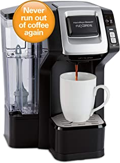 Hamilton Beach 49968 FlexBrew Connected Single Cup Coffee Maker with Amazon Dash Auto Replenishment for Coffee Pods