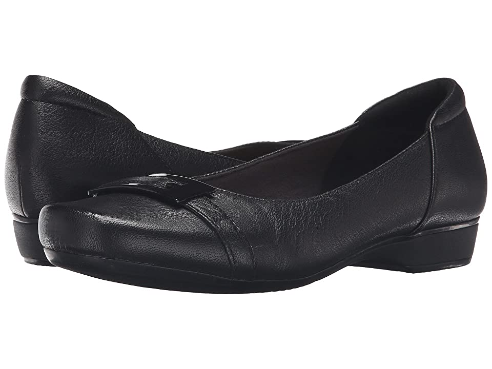 Clarks Blanche West (Black Leather) Women
