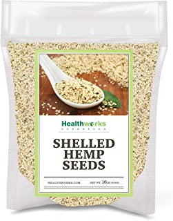 Sponsored Ad - Healthworks Shelled Hemp Seeds Canadian (16 Ounces / 1 Pound) | Premium & All-Natural | Contains Omega 3 & ...