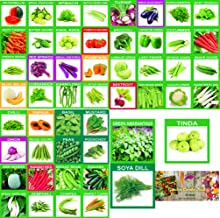 KRIWIN 51 Varieties 2215+ seeds(Organic/Hybrid) Fruits & Vegetables Seed with Start your own Garden Guide booklet