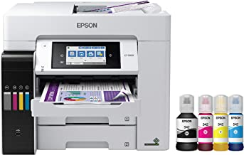 $849 » Epson EcoTank Pro ET-5850 Wireless Color All-in-One Supertank Printer with Scanner, Copier, Fax and Ethernet Plus 2 Years ...