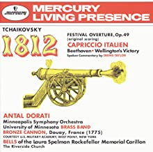 Tchaikovsky: 1812 Festival Overture, Op.49; Capriccio Italien / Beethoven: Wellington's Victory