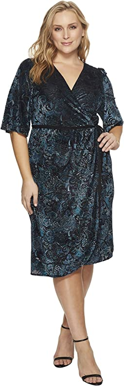 Kiyonna - Vivica Velvet Wrap Dress