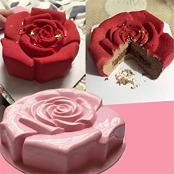 Enjoyable Amazon Com Fantasyday 11 Rose Flower Birthday Cake Mold Silicone Birthday Cards Printable Trancafe Filternl