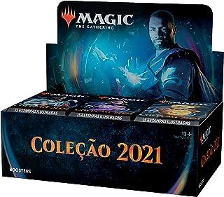 Caixa de Boosters de Draft da Coleção Básica 2021 de Magic: The Gathering (M21)   36 boosters (540 cards)   Coleção mais r...